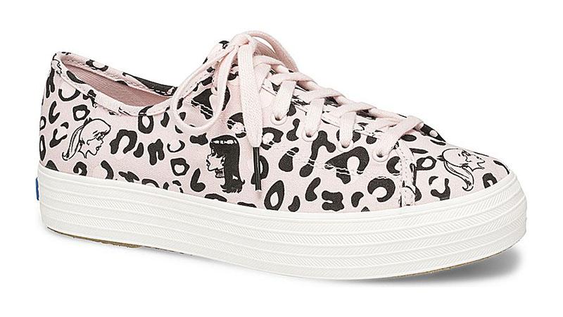 Keds x Betty & Veronica Triple Kick Leopard Sneaker in Pink $69.95