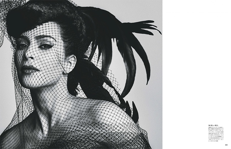 Ready for her closeup, Kim Kardashian wears mesh veil