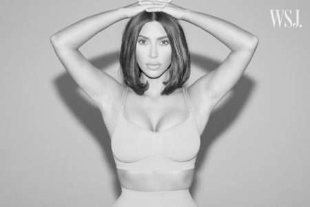 Kim Kardashian poses in sculpting bra and solution shorts