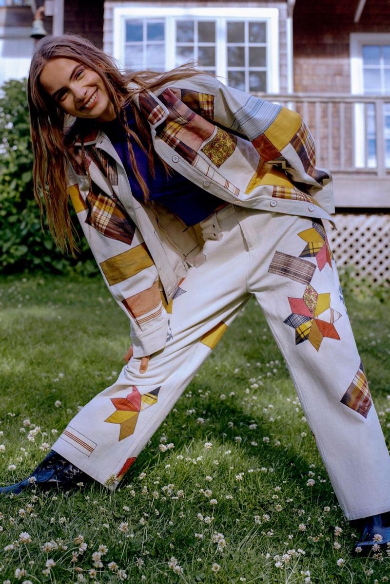 Kimchi Blue Patchwork Chore Jacket $129 & High-Rise Wide Leg Jean $129
