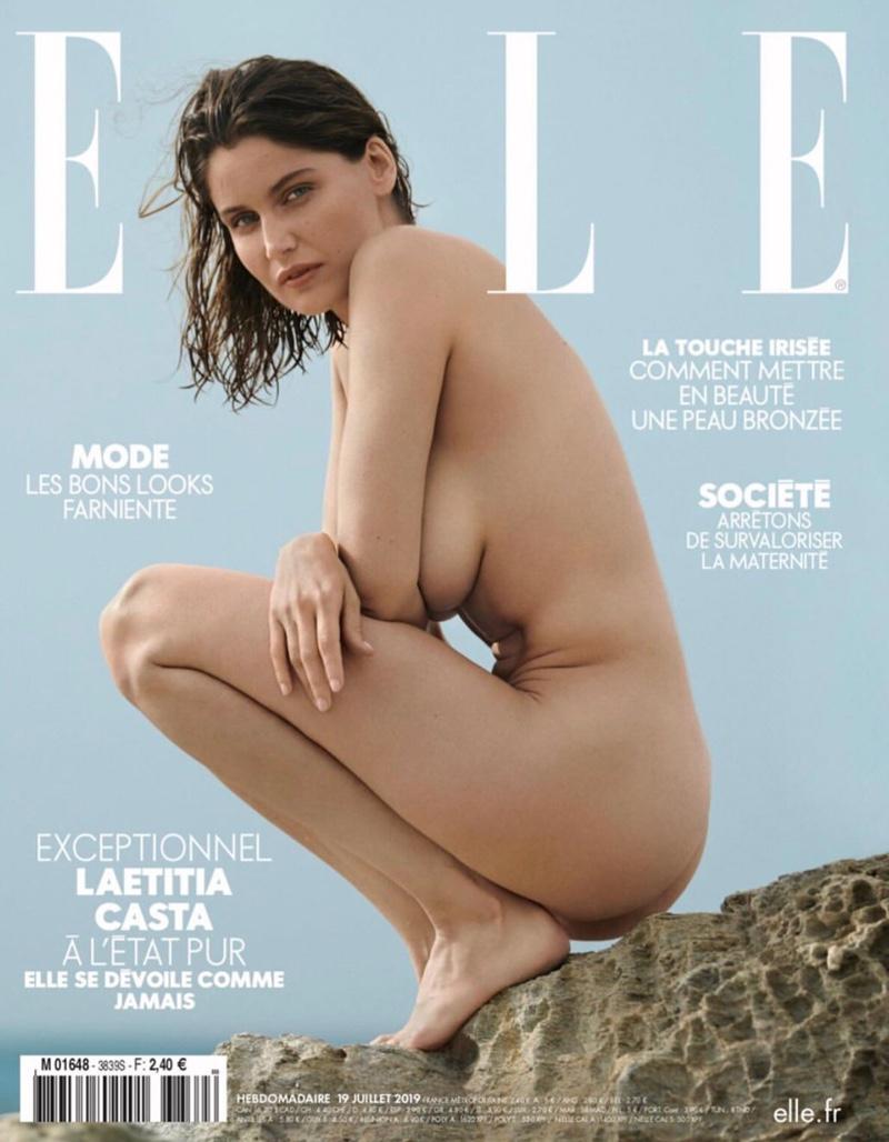 Laetitia Casta Smolders in Summer Styles for ELLE France