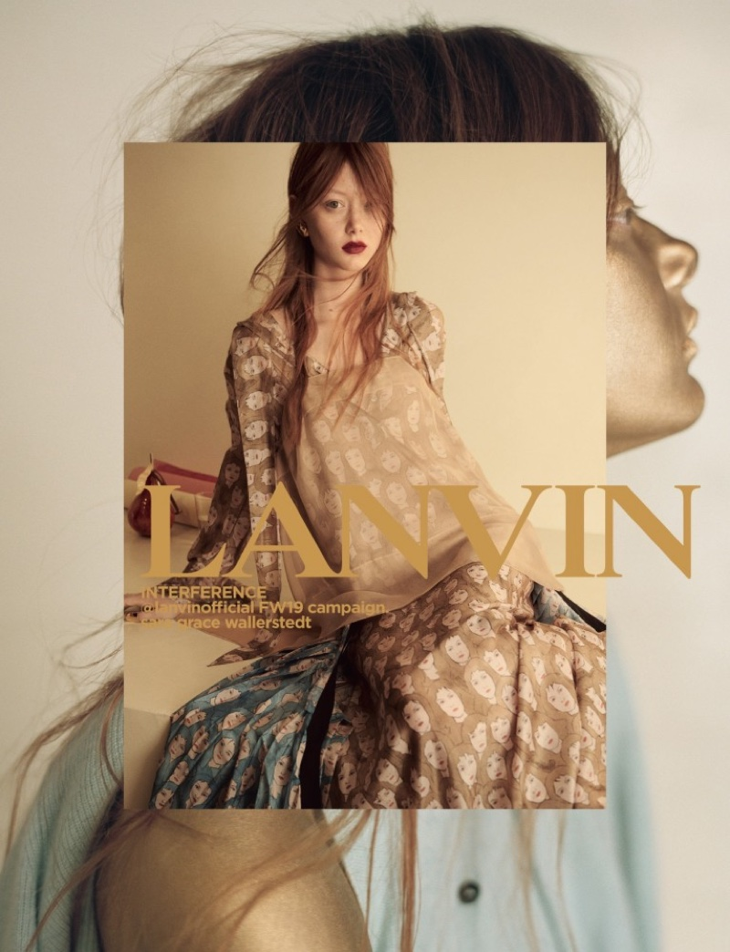 Sara Grace Wallerstedt stars in Lanvin fall-winter 2019 campaign
