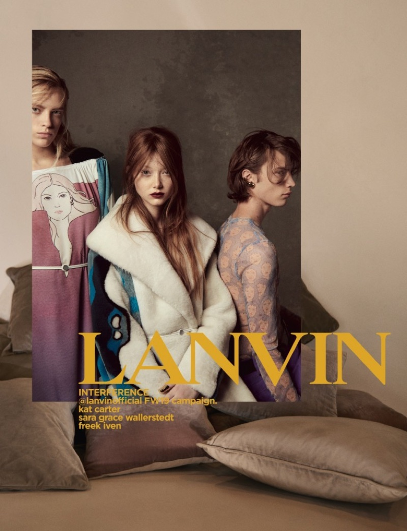 An image from Lanvin's fall 2019 advertising campaign