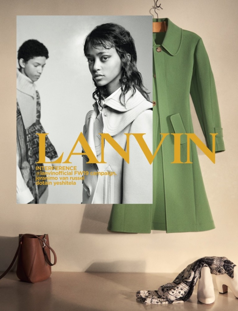 Jeranimo Van Russel and Dotain Yeshitela front Lanvin fall-winter 2019 campaign