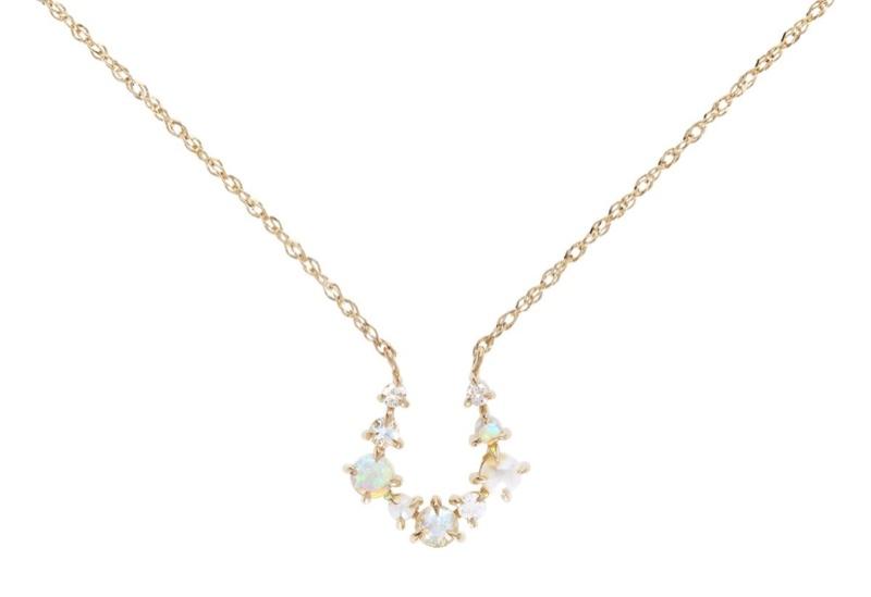 Leith Clark x Catbird Unicorn Horseshoe Necklace $548
