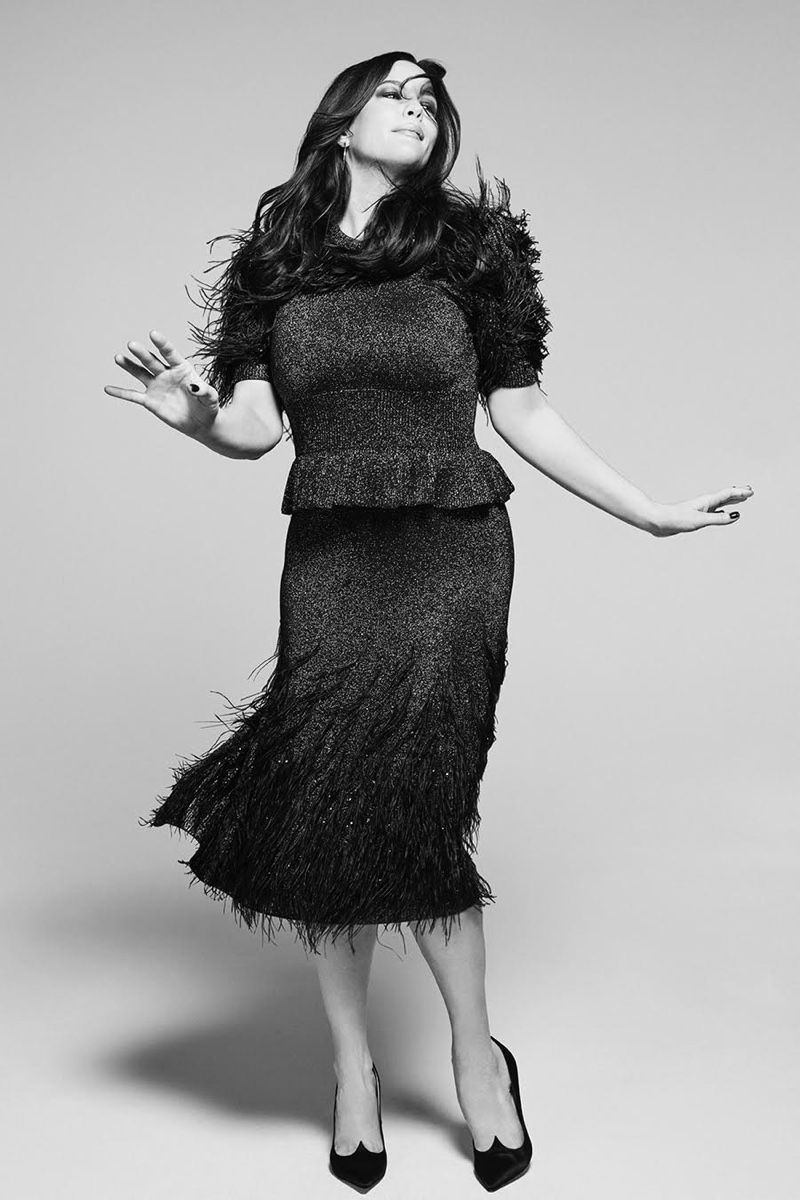 Showing off her moves, Liv Tyler wears Michael Kors Collection dress and Roger Vivier pumps