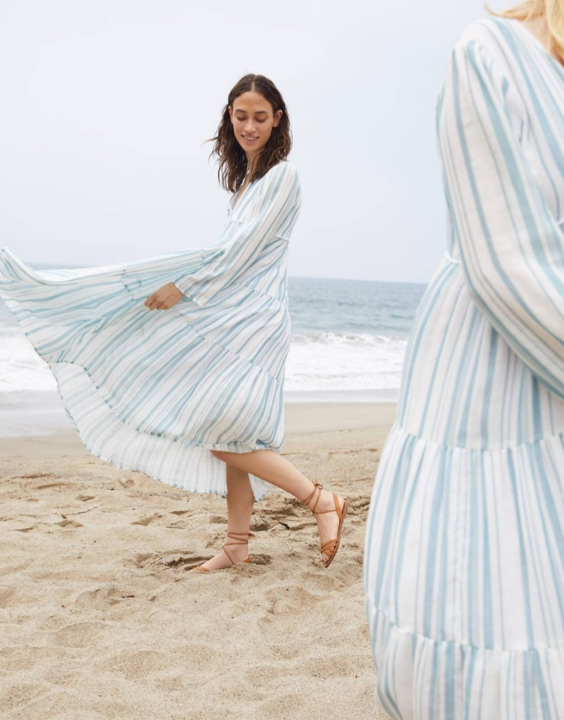 Madewell x Christy Dawn Striped Paloma Midi Dress $250