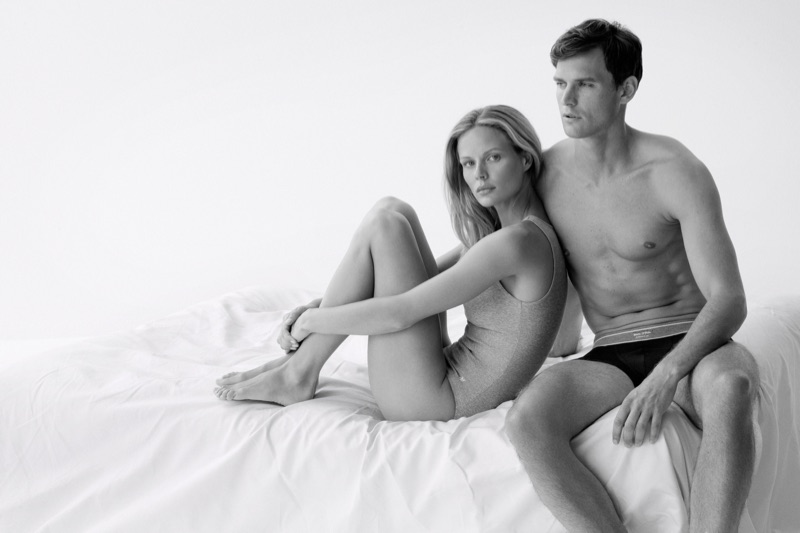 Marlijn Hoek snd Guy Robinson pose for Marc O'Polo Body + Beach 2019 campaign