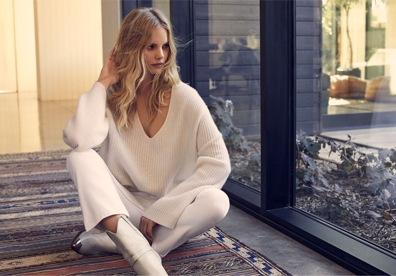 Model Marloes Horst appears in 360 Cashmere fall-winter 2019 campaign