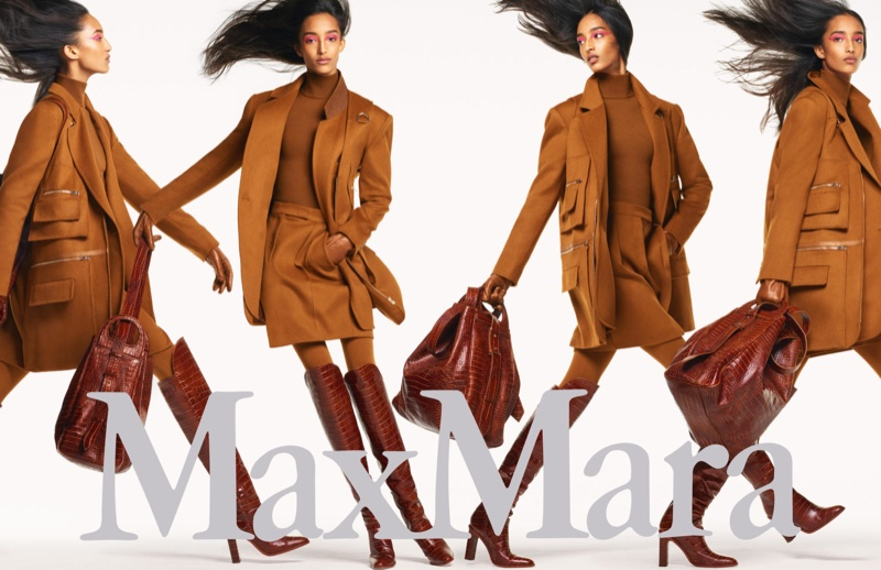 Mona Tougaard appears in Max Mara fall-winter 2019 campaign