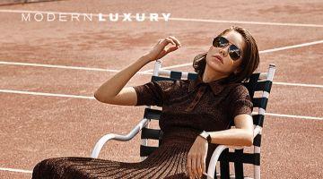Michelle Dantas Tries On Tennis Inspired Looks for Modern Luxury