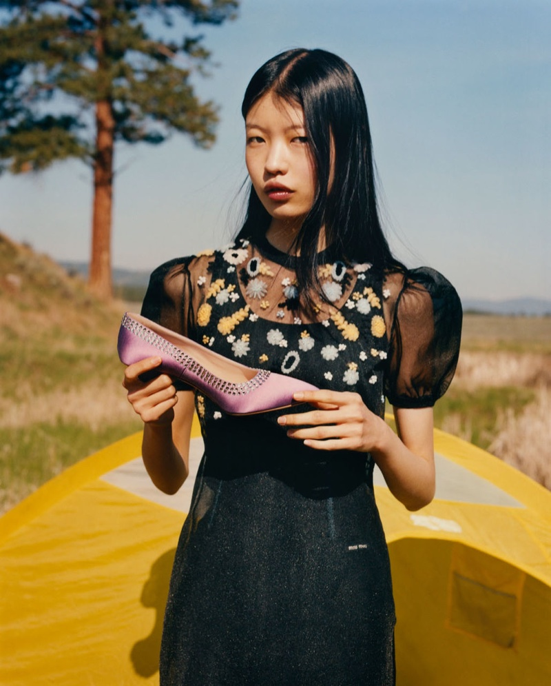 Tang He fronts Miu Miu fall-winter 2019 campaign