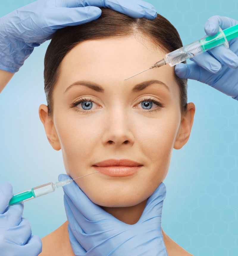 Model Surgeon Hands Fillers Botox Needles