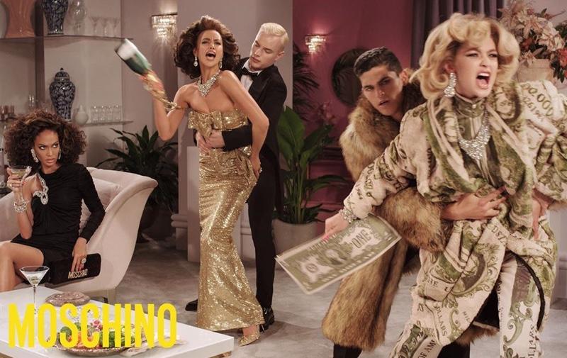 Joan Smalls, Irina Shayk and Gigi Hadid star in Moschino fall 2019 campaign