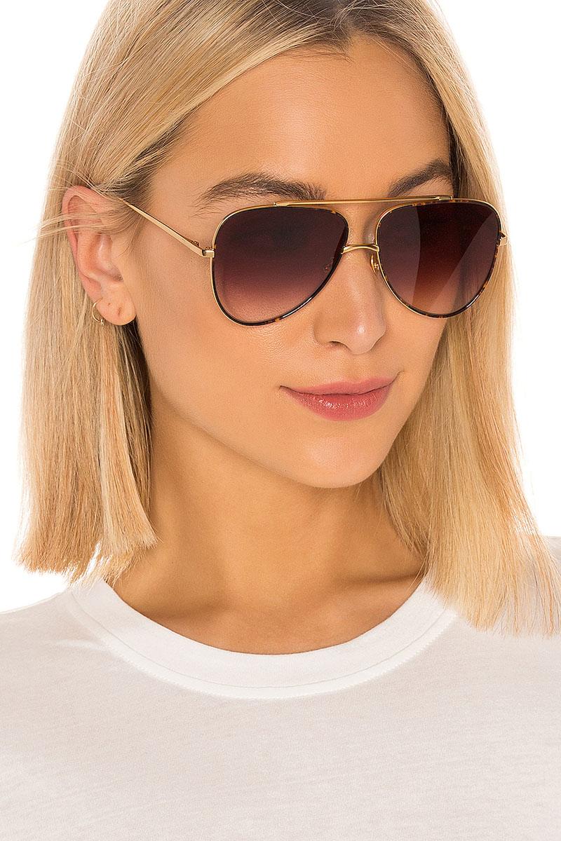 My My My Jordyn Sunglasses in Gold & Gradient Brown $98