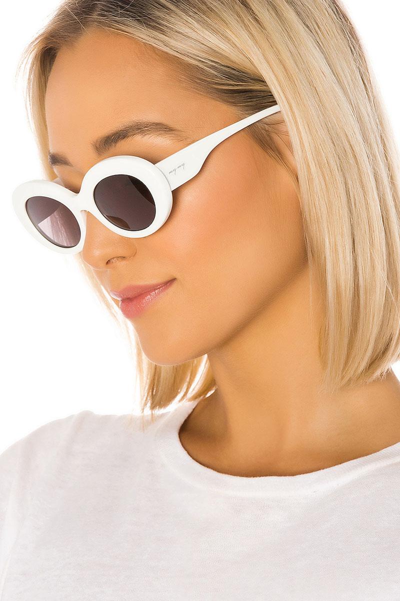 My My My Kerry Sunglasses in White $98