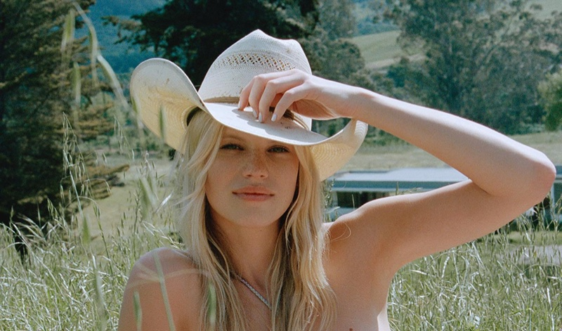 Nadine Leopold stars in Bamba Swim Once Upon a Western campaign