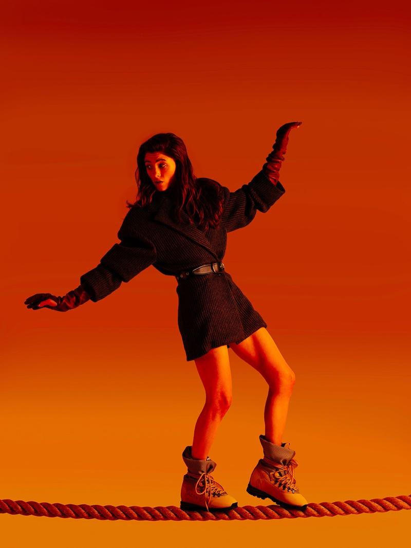 Natalia Dyer poses for Refinery29 fashion shoot