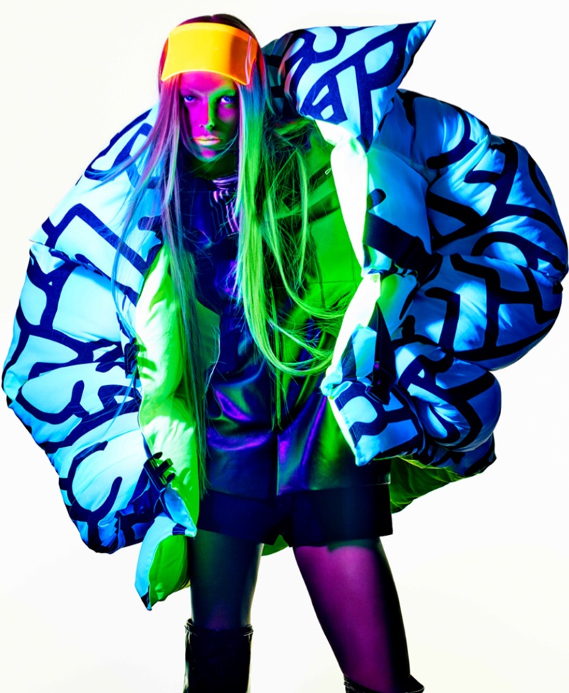 Lexi Boling & Remington Williams Rock Neon Looks for V Magazine