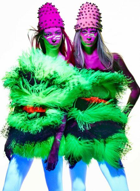 Lexi Boling & Remington Williams Rock Neon Looks for V Magazine