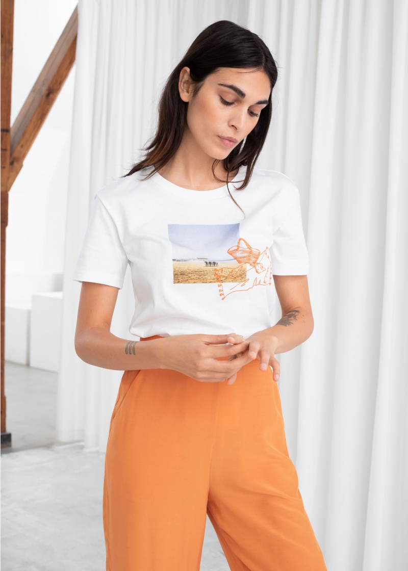 & Other Stories Beach Graphic Tee $29