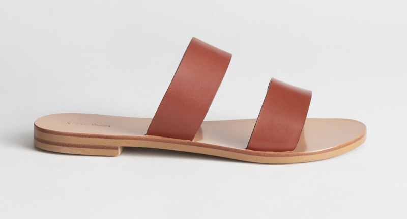 & Other Stories Duo Strap Leather Sandals $79