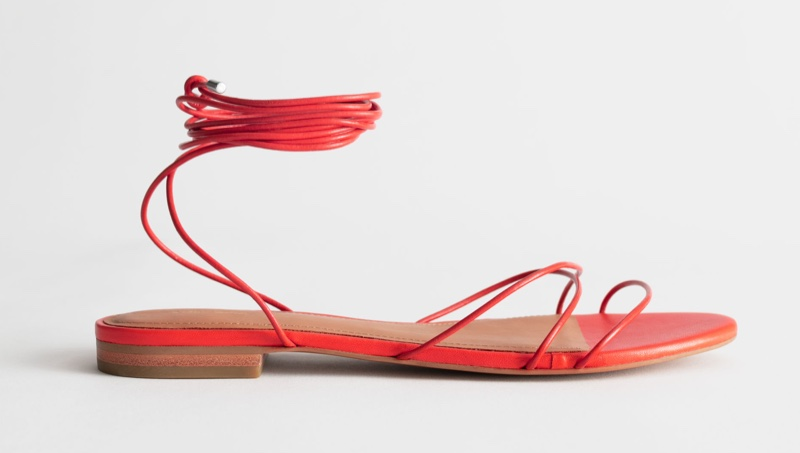 & Other Stories Leather Lace Up Sandals $79