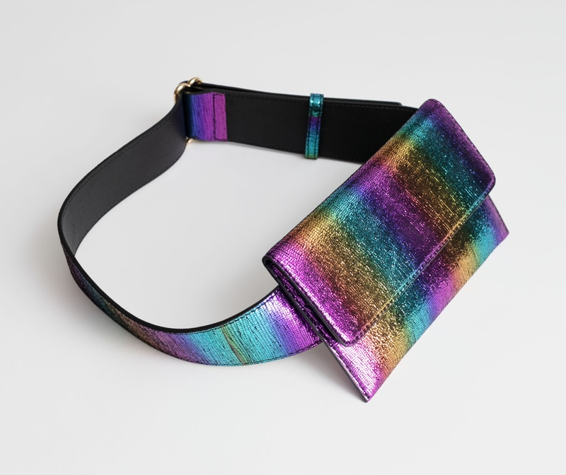 & Other Stories Rainbow Leather Beltbag $69