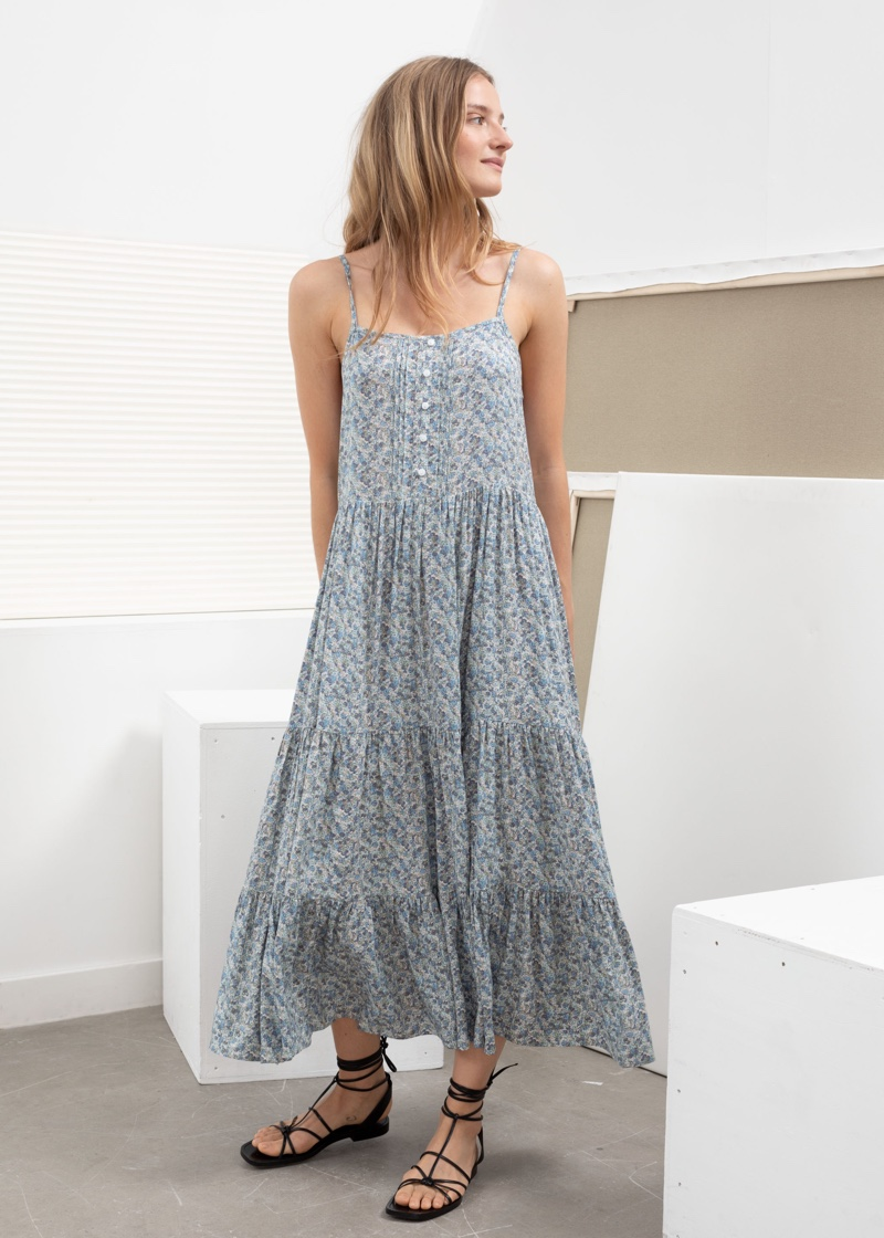 & Other Stories Ruffle Tier Maxi Dress $99