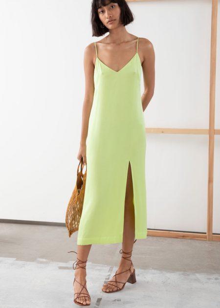 & Other Stories Side Slit Midi Slip Dress $99