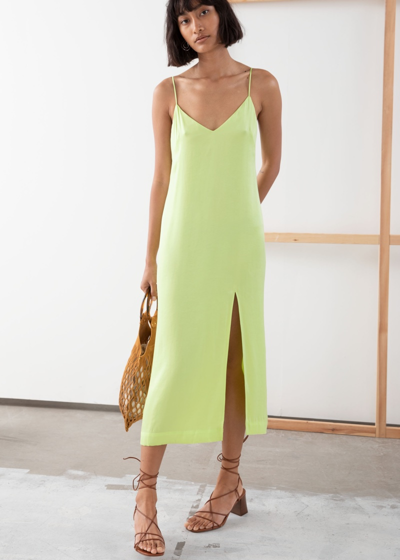 & Other Stories Side Slit Midi Slip Dress $99