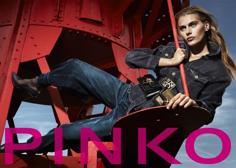 Madison Headrick stars in Pinko fall-winter 2019 campaign