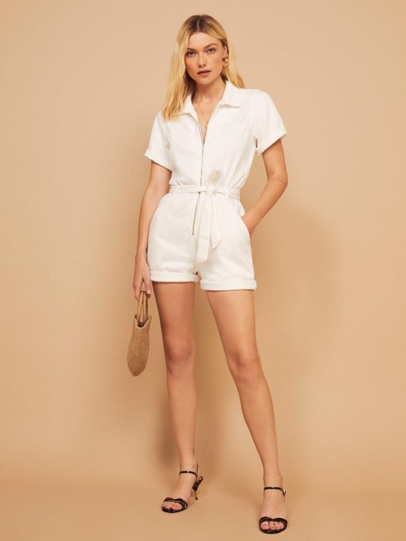 Reformation Sadie Jumpsuit in Vintage White $148