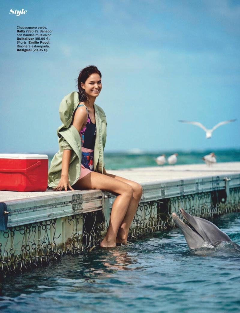 Robin Holzken Models Colorful Swimwear for Cosmopolitan Spain