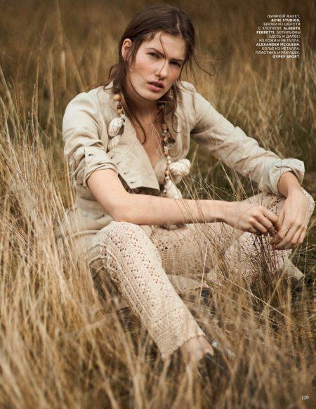 Roos Van Elk Poses in Lightweight Boho Styles for Vogue Russia