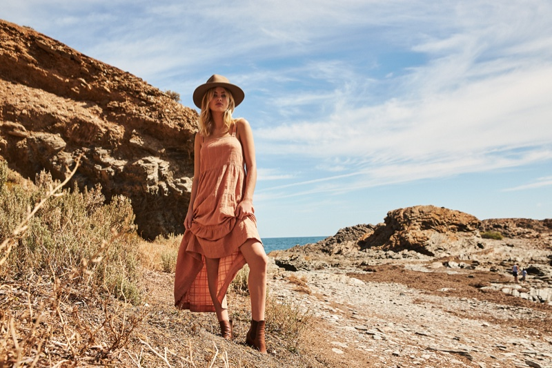 Megan Irwin looks pretty in pink for Rowie The Label pre-spring 2019 campaign