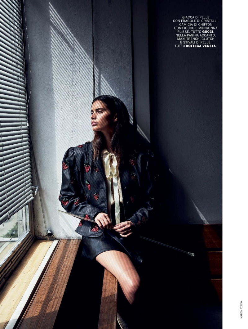 Sara Sampaio Poses in Pre-Fall Fashion for Marie Claire Italy