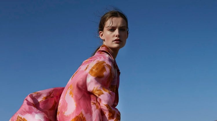 Sara van der Hoek Embraces Artsy Prints for Marie Claire Netherlands