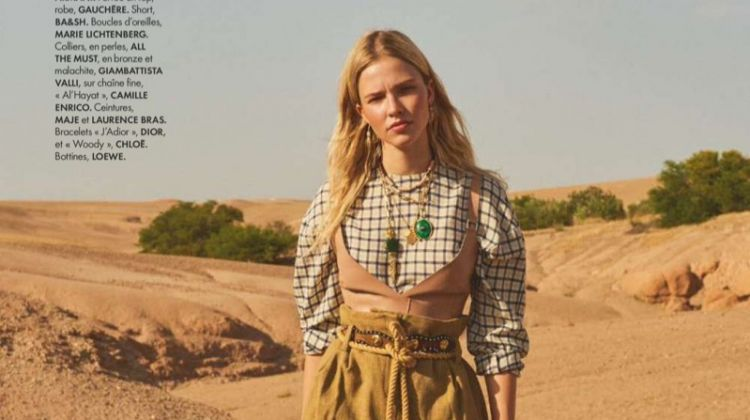 Sasha Luss Goes On a Desert Road Trip for ELLE France