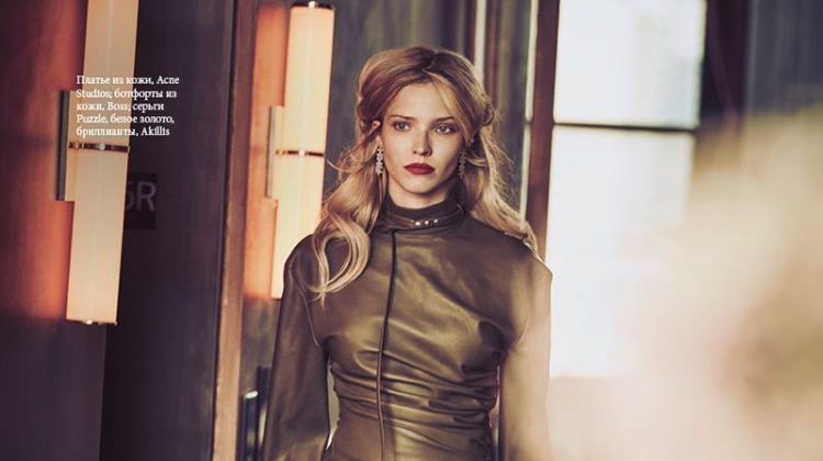 Sasha Luss is A Chic Secret Agent for ELLE Russia