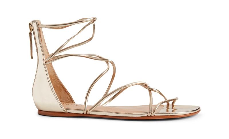Schutz Fabia Sandal in Platina Gold $58 (previously $145)