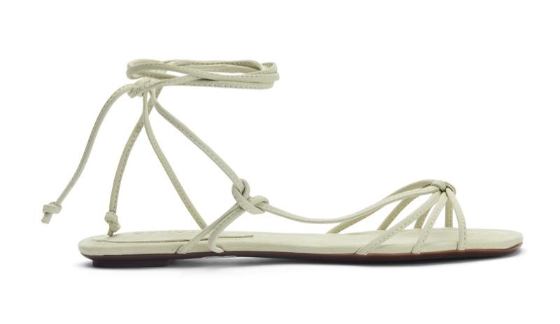 Schutz Milu Flat Sandal in Lemongrass $65 (previously $130)