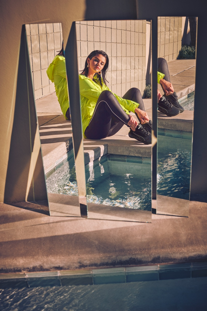 Singer Selena Gomez fronts PUMA LQD CELL Shatter Luster sneaker campaign