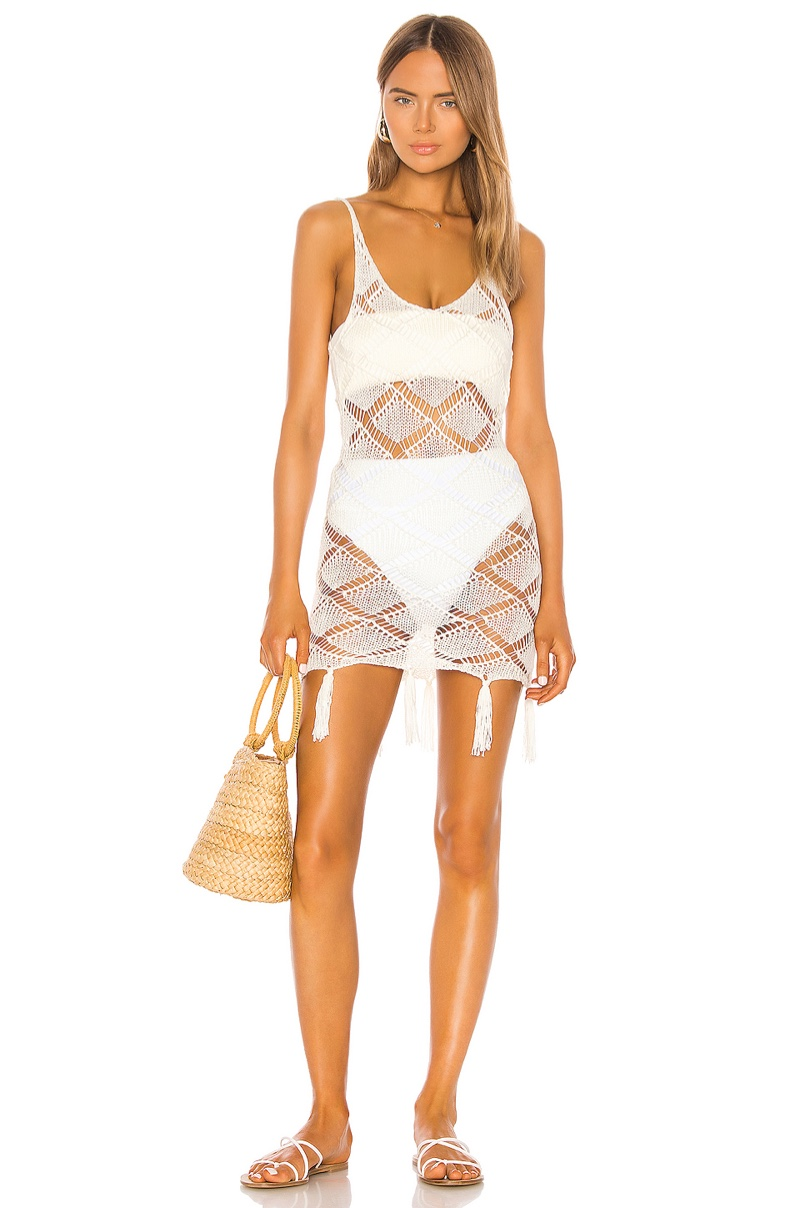 Shaycation x REVOLVE Bell Dress in White $168