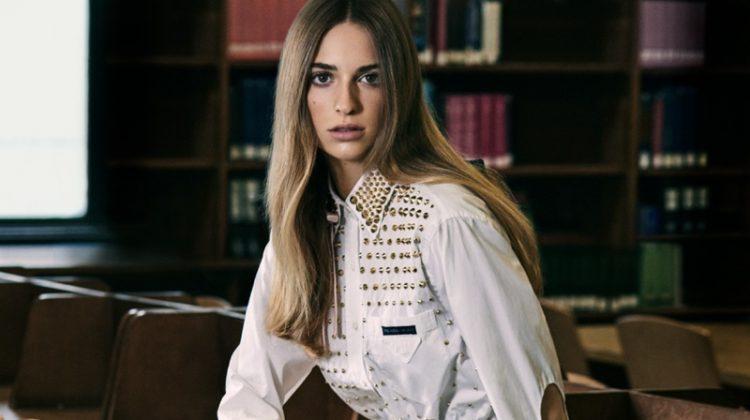 Photographed by Michael Schwartz, Talita Von Furstenberg poses for Vogue Mexico