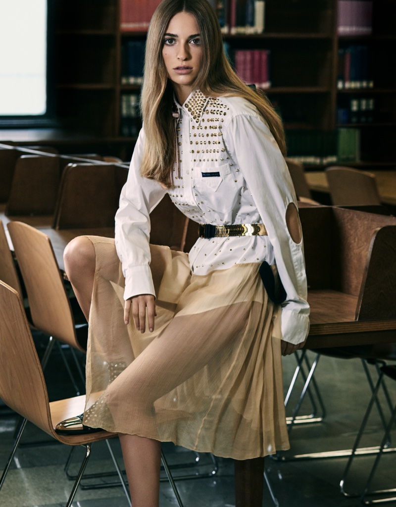 Photographed by Michael Schwartz, Talita Von Furstenberg poses for Vogue Mexico