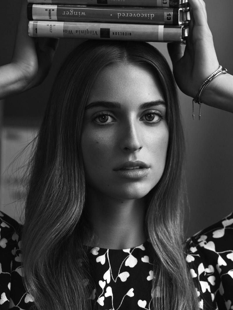 Ready for her closeup, Talita Von Furstenberg poses in black and white