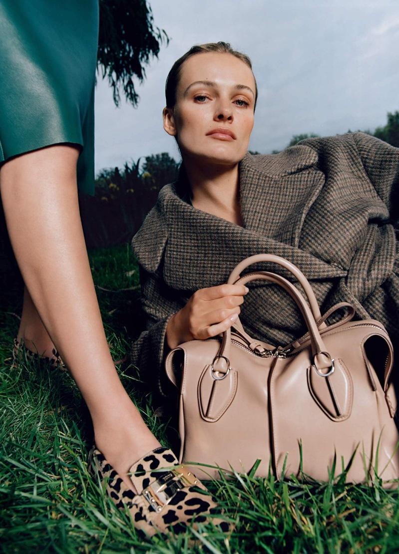 Model Edita Vilkeviciute takes focus in Tod's fall-winter 2019 campaign