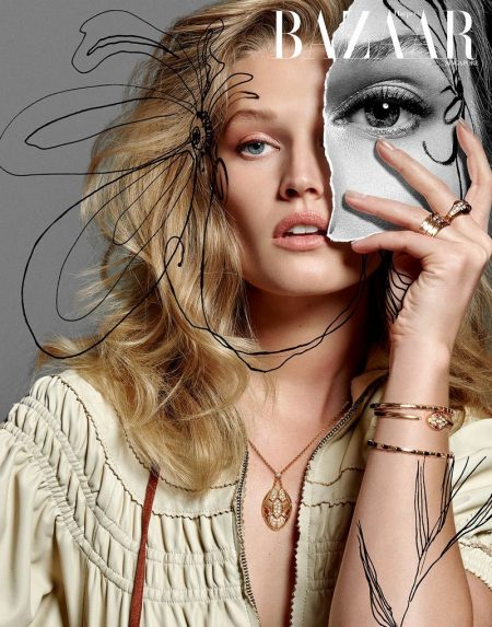 Toni Garrn is A Work of Art for Harper's Bazaar Singapore