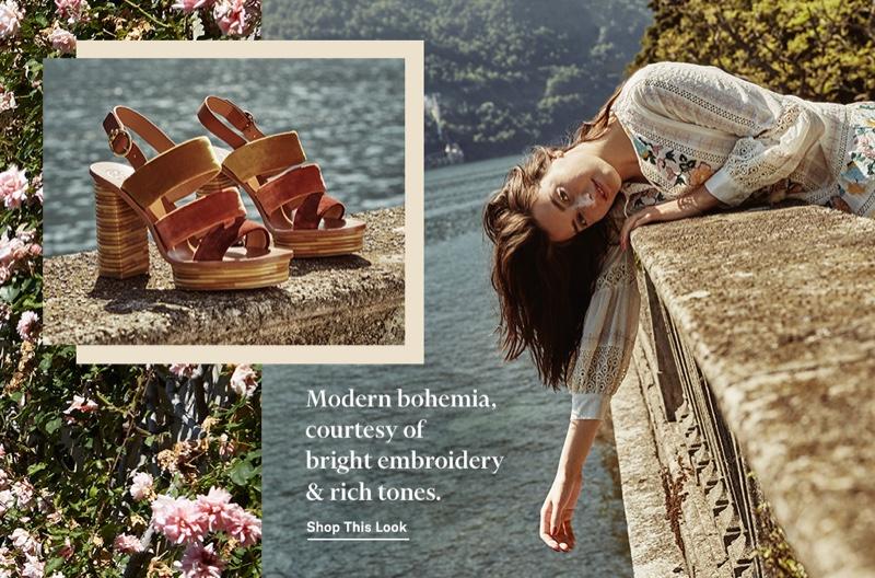 Tory Burch Richa Swiss Dot Cotton Dress $498 and Patos 105mm Sandals $398